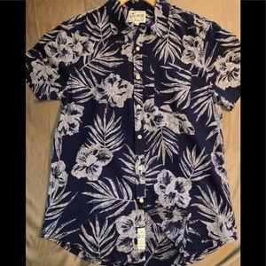NWT Lucky Brand Hawaiian-ish Shirt